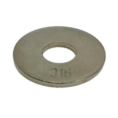 AU5.40 • Buy Mudguard Washer M6 (6mm) X 18mm X 1.6mm Metric Penny Marine Stainless Steel G316