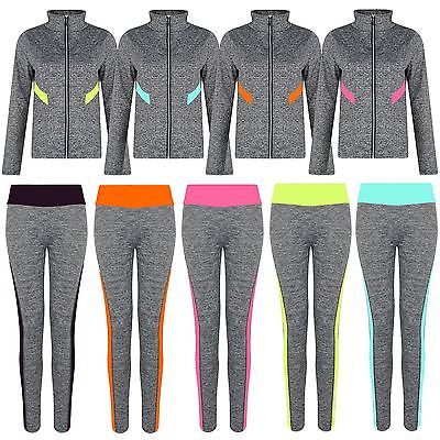 Ladies Gym Sports Jacket Or Leggings Women Active Wear Zip Top Yoga Pants S-XL • 6.98£