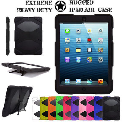 For Apple IPad Air (1st Gen) 9.7  Tough Hard Rugged HEAVY DUTY Shock Case Cover • 11.95£