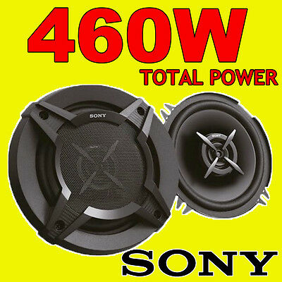 SONY 460W TOTAL 2WAY 5.25 INCH 13cm CAR DOOR/SHELF COAXIAL SPEAKERS BLACK PAIR • 29.99£
