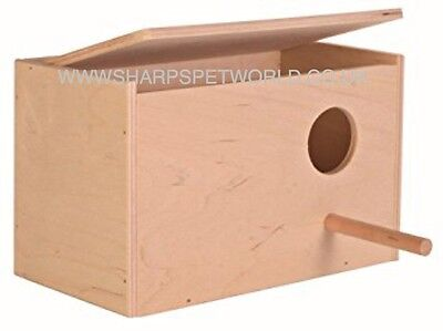 £117.99 • Buy Trixie Wooden Budgie Nest Nesting Box & Perch For Cage Aviary With Opening Top