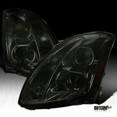 $207.99 • Buy For Nissan 2004-2006 Maxima Smoke Projector Headlights Tinted Head Lamps