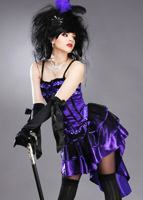 £19.99 • Buy Womens Burlesque Showgirl Can Can Dancer Purple Costume DRESS AND CORSET ONLY