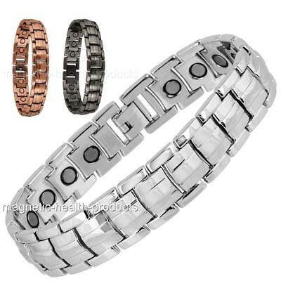 £9.49 • Buy Mens Magnetic Health Bracelet Carpal Tunnel Bangle Silver Arthritis Pain Relief