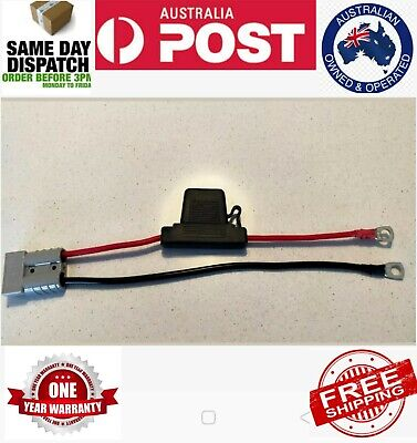 AU16 • Buy FUSED Anderson Lead 50amp Plug To 8mm Lugs 6 Mm Cable