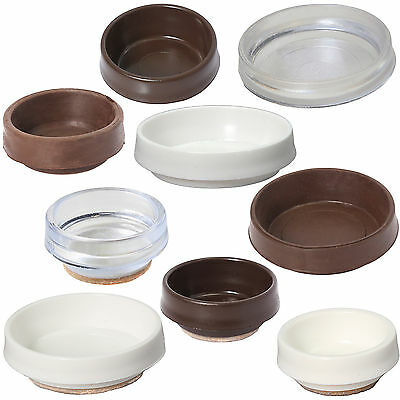 £2.99 • Buy HUGE RANGE QUALITY CASTOR CUPS Small - Large FURNITURE / FLOOR PROTECTION CAPS