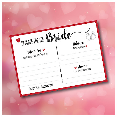Hen Party Games *keepsake* - Messages For The Bride *Free P&P* • 4.49£