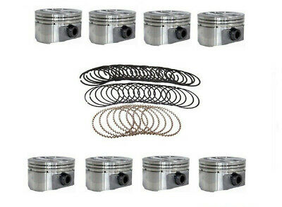 $193.50 • Buy Dish Pistons W/ Moly Rings For 1996-2002 Chevrolet 350 5.7L Vortec VIN  R