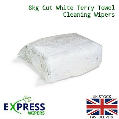 £26.50 • Buy 8kg Premium White Terry Towelling Cleaning Rags Wiping Wipers Cloths