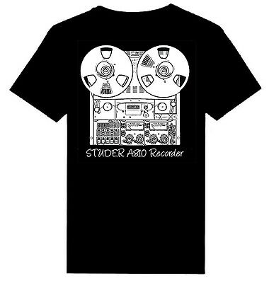 $18.99 • Buy STUDER A810 Reel Tape Recorder Print Heavy Weight T - Shirts   S - 5XL