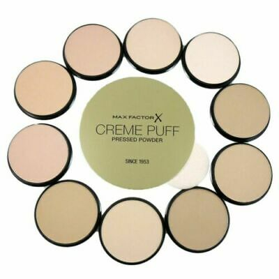 Max Factor Creme Puff Pressed Face Powder Compact 21g - Please Choose Your Shade • 3.49£