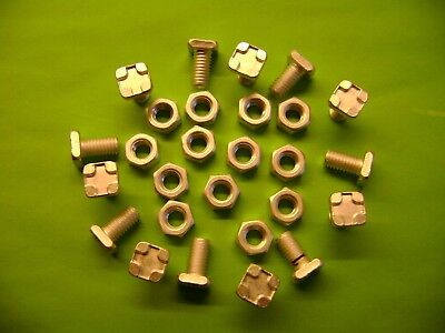 10 To 100 Greenhouse Square Head 11mm Aluminium Bolts+nuts (see Also Our Clips • 7.99£