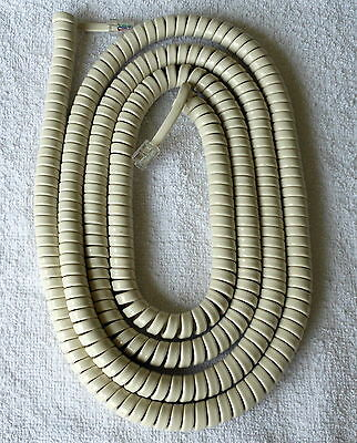 £6.99 • Buy American Style Telephone Curly Cord (Extra Long) Available In Black Or White