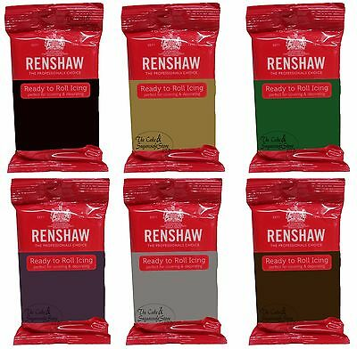 Renshaw Ready To Roll Icing Dark Colour Bundle • 2.55£