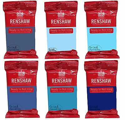 Renshaw Icing Sugarpaste Mixed Blues • 2.55£