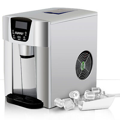 $1118.90 • Buy 2 IN 1 26LBS Electric Cool Water Dispenser Built-In Ice Maker Machine Silver