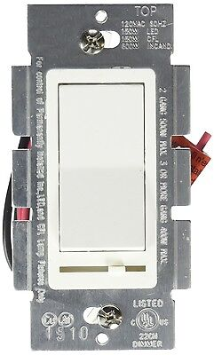 Dimmer Light Switch Single Or 3-Way For LED/ Incandescent/ CFL/ Halogen, White • 14.98$
