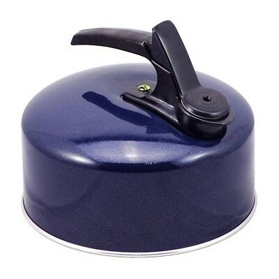 £8.95 • Buy Highlander Whistling Stove Top Kettle 1lt Camping Kettle Fixed Handle In BLUE
