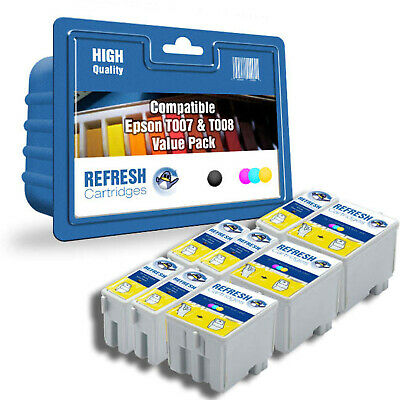 Refresh Cartridges Value Pack T007 / T008 Ink Compatible With Epson Printers • 17.27£