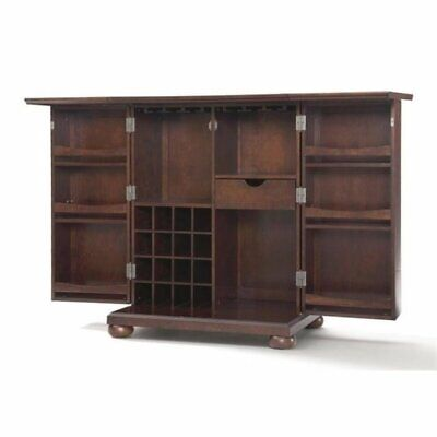$787.20 • Buy Bowery Hill Expandable Home Bar Cabinet In Vintage Mahogany