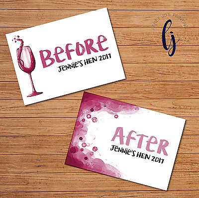 Hen Party Games Before And After Signs (A4) - Keepsake Photos • 5.49£