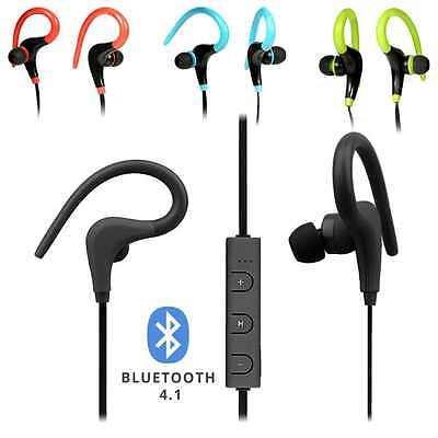Bluetooth Wireless Sports Running Ear Hook Headphones IPhone Samsung Earphones • 4.95£