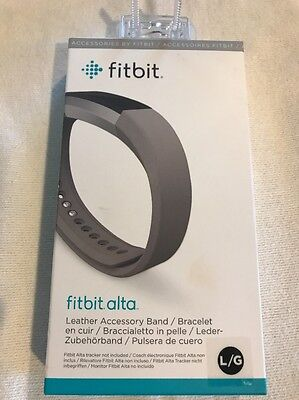 AU33.42 • Buy Brand New Fitbit Alta Leather Accessory Band - Graphite, Large