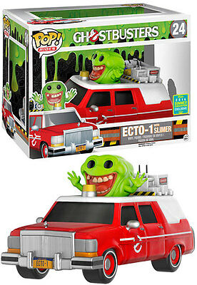 Sdcc 2016 Funko Pop Rides Ghostbusters Red Ecto-1 With Slimer Exclusive • 77.14£