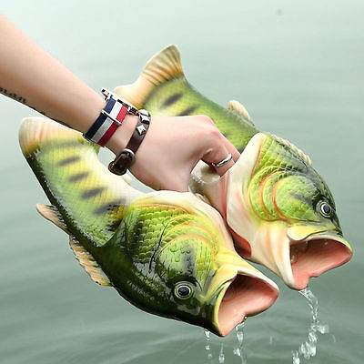 $ CDN18.39 • Buy Emulational Fish Style Soft Sandals Beach Slippers Casual Shoes For Women Men