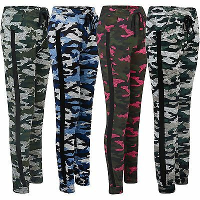 £7.98 • Buy Ladies Camouflage Tracksuit Trousers Jogging Sweatpants Cuffed Bottoms Size S-XL