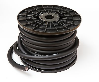 CCA 65mm² OVERSIZED 0 AWG BLACK POWER CABLE WIRE PER METRE COPPER CLAD ALUMINIUM • 6.50£
