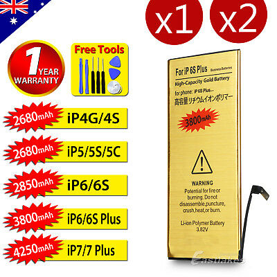 AU9.75 • Buy For Apple IPhone 4S 5 5S 5C 6 6S 7 PLUS High Capacity Battery Replacement Tools