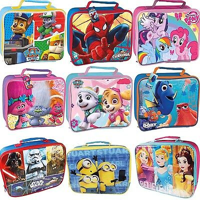 Kids Character School Boys Girls Insulated Wipe Clean Lunch Box Bag Rrp £12.99 • 9.95£
