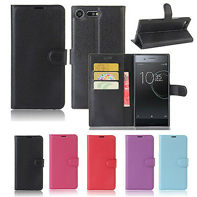 AU8.99 • Buy Premium Leather Wallet Case TPU Cover Sony Xperia XZ Premium + Screen Protector