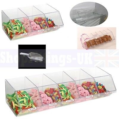 New Pick N Mix Sweet Acrylic Dispenser Display Stacking Bin Holder • 79.99£