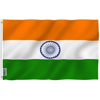 $6.95 • Buy Anley Fly Breeze 3x5 Foot India Flag Indian National Flags Polyester 3 X 5 Ft