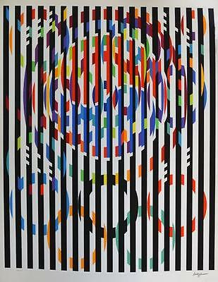 $1200 • Buy Yaacov Agam ** Message Of Peace ** Serigraph On Paper