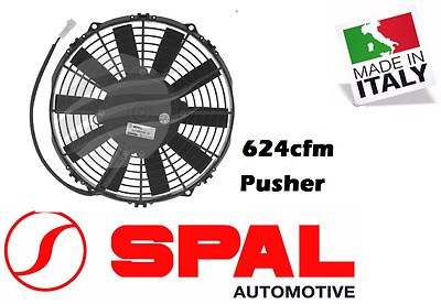 AU189 • Buy For Spal 9  Thermo Fan Straight Blade 12v Pusher 624 CFM 7.1amps Low Profile New