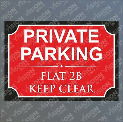 Personalised Private Parking Sign No Parking Keep Clear House Number Street Name • 4.79£