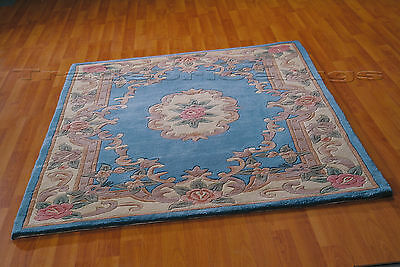 £61.55 • Buy Lotus Premium Small- X Large Blue Soft Chunky Thick Luxury 100% Wool Chinese Rug