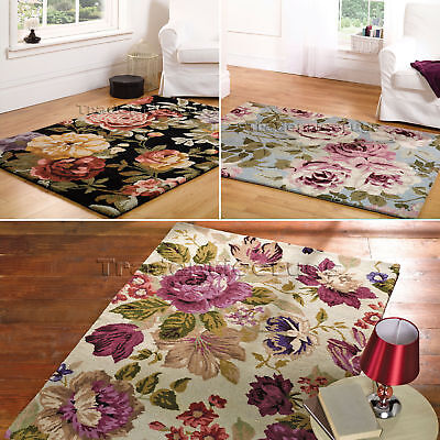 Small - Extra Large Floral Thick Luxury Vintage Elegant Chic 80% Wool,soft Rugs • 53.81£