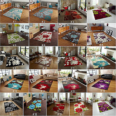 £37.80 • Buy Small - Extra Large Thick Floral Flower Vibrant Colourful Funky Hong Kong Rug