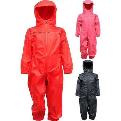 Kid Children Toddler Paddle Waterproof Windproof Rain Suit Jacket And Pant • 19.90£