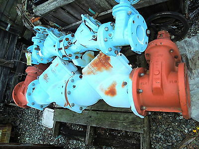 $2997 • Buy 8  ZURN WILKINS DOUBLE CHECK BACKFLOW PREVENTER W/ CLOW NRS FLANGED GATE VALVES