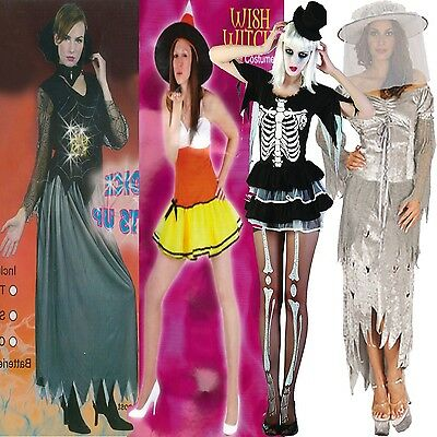 Womens Ladies Halloween Party Cosplay Costume Witch Zombie Bride Fancy Dress  • 14.49£