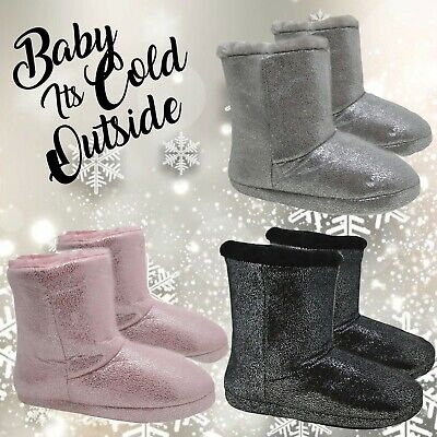 Ladies Slipper Boots,Ladies Slipper Booties Womens Warm Fleece Lined Ankle Boots • 12.97£