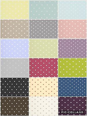 £9.95 • Buy Clarke And Clarke. DOTTY Cotton Fabric For Curtains/ Upholstery/Craft/Cushions