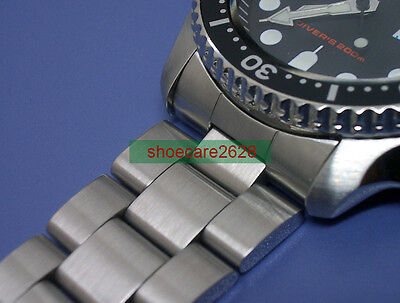 $ CDN51.10 • Buy 22mm Oyster Solid Stainless Steel Strap For Scuba SKX007 Double Safe Lock Buckle