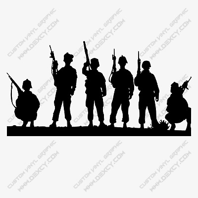 $6.94 • Buy Military,army,soldiers Custom Vinyl Graphic,decal,sticker Car,truck,window,wall