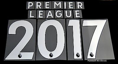 Official Premier League 2017/18/19 White Letter Name For Football Shirts  • 1£